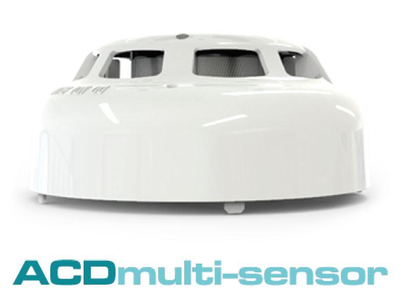 ACD-EN адресируем комбиниран пожароизвестителен детектор за дим, топлина и CO